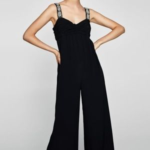 Zara Black Embellished Jumpsuit (NWT)